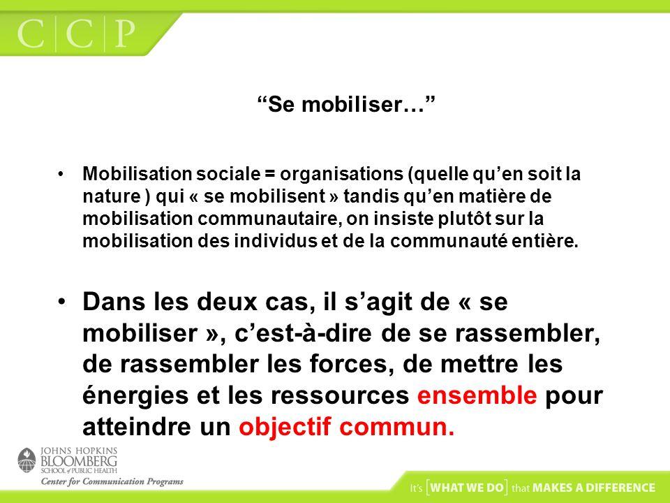 Se mobiliser…