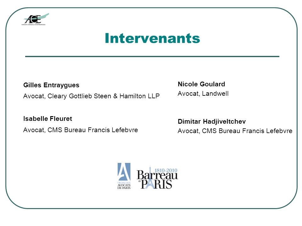 Intervenants Gilles Entraygues