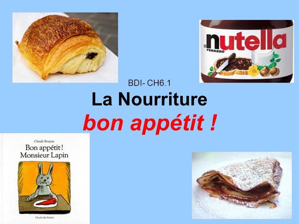 BDI- CH6.1 La Nourriture bon appétit !