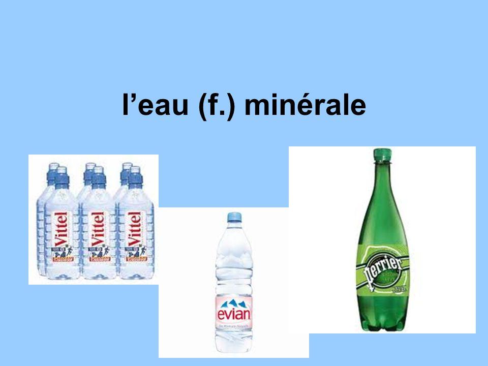 l'eau (f.) minérale