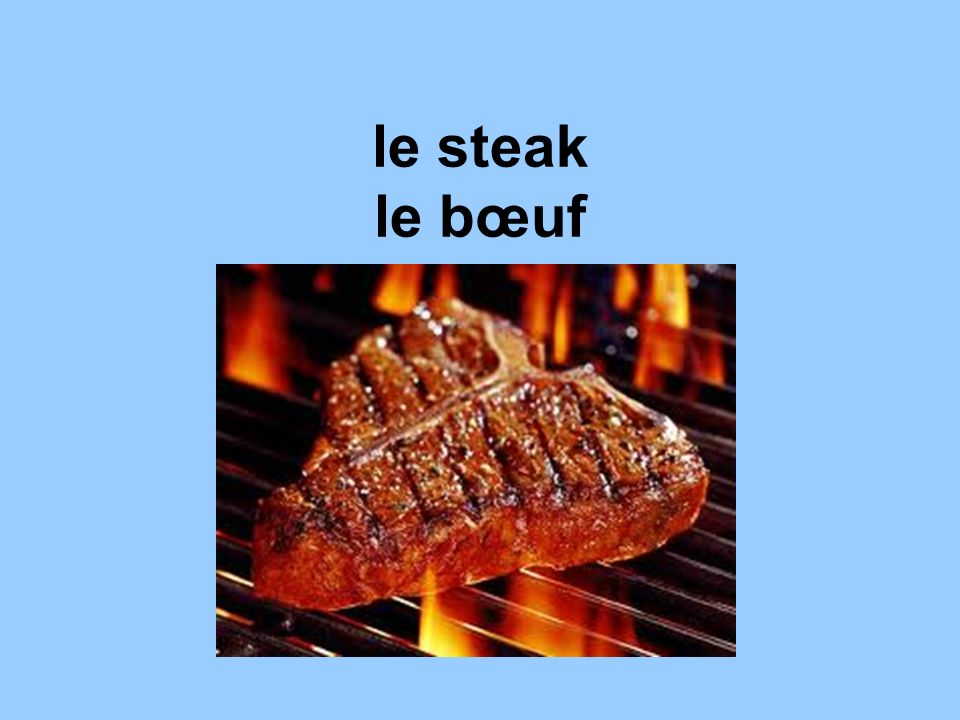 le steak le bœuf