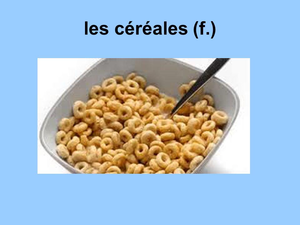 les céréales (f.)