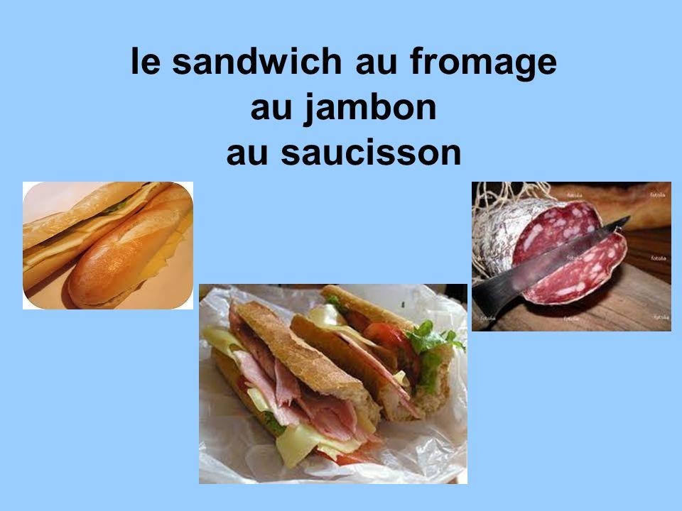 le sandwich au fromage au jambon au saucisson