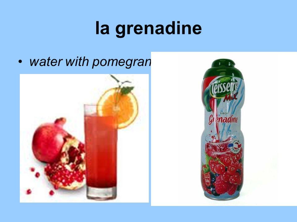 la grenadine water with pomegranate