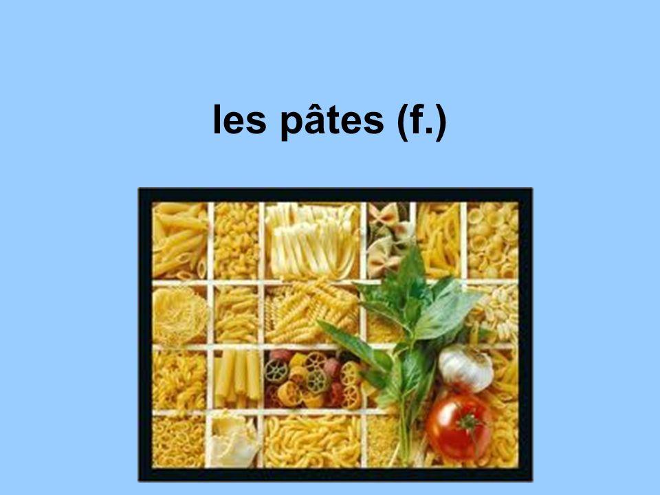 les pâtes (f.)