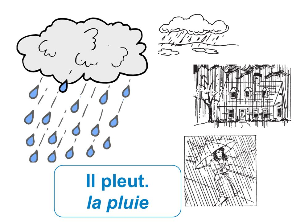 Il pleut. la pluie