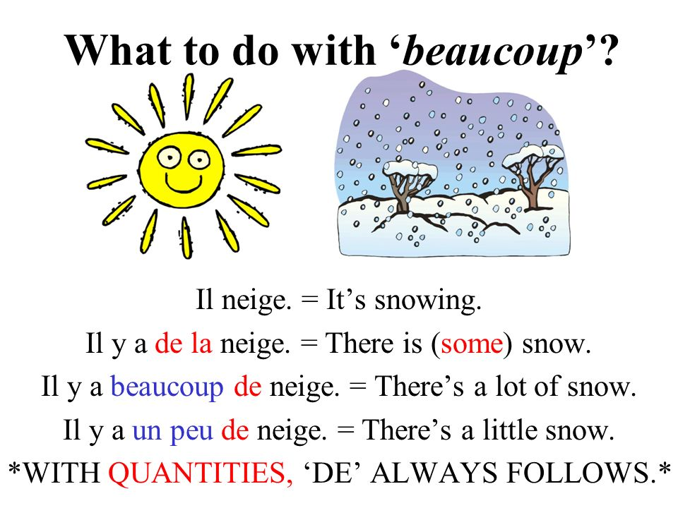 What to do with 'beaucoup'