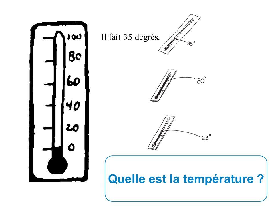 Quelle est la température