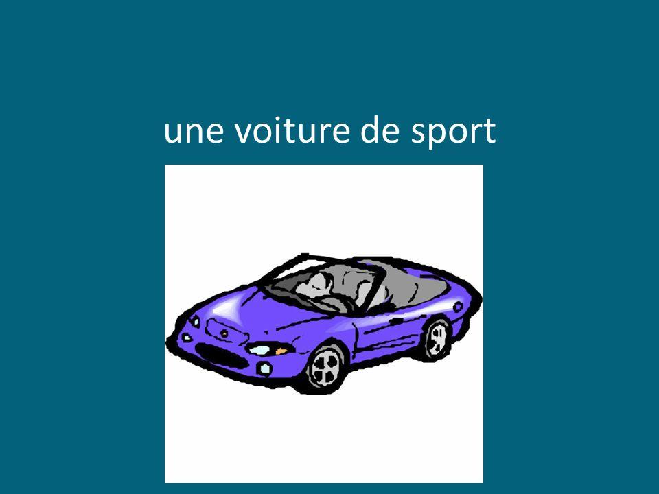 une voiture de sport