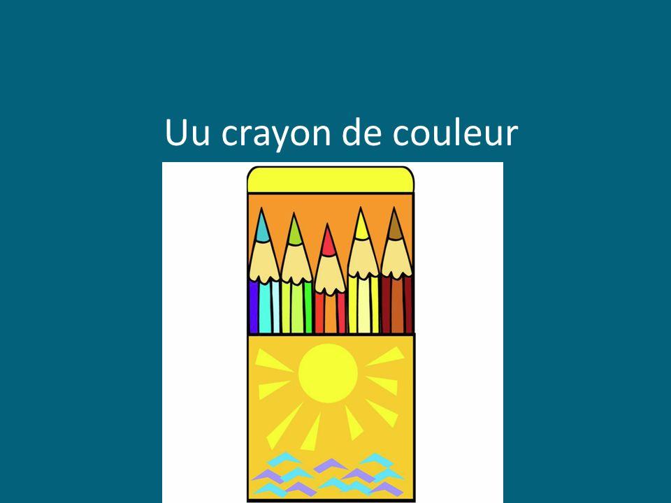 Uu crayon de couleur