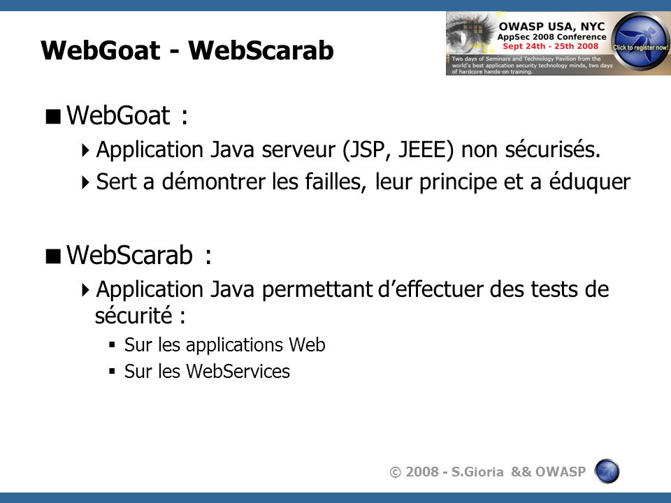 WebGoat - WebScarab WebGoat : WebScarab :