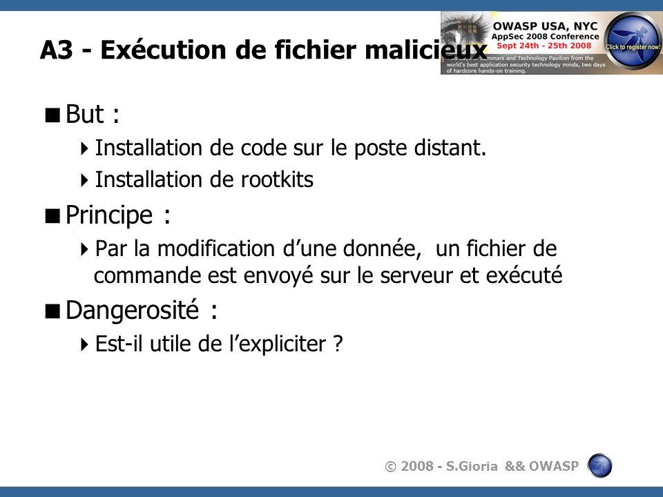 A3 - Exécution de fichier malicieux