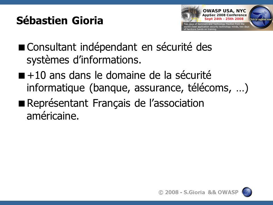 Sébastien Gioria Consultant indépendant en sécurité des systèmes d'informations.