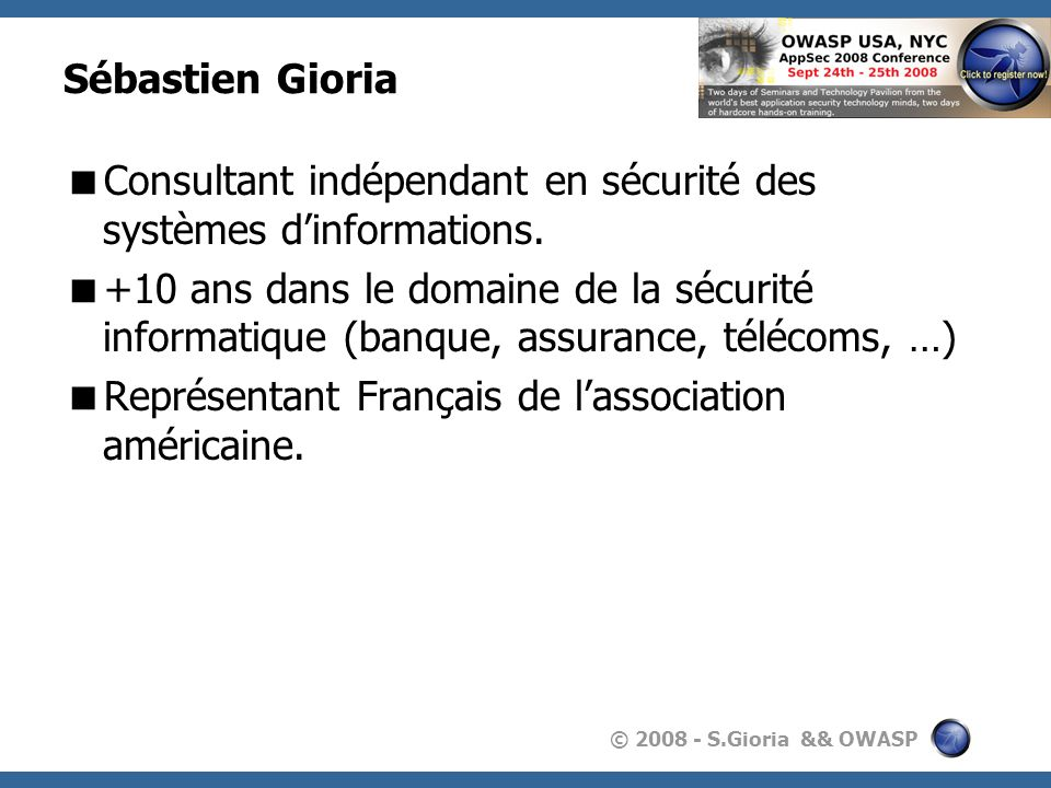 Sébastien GioriaConsultant indépendant en sécurité des systèmes d'informations.
