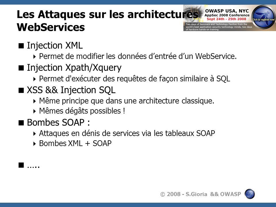Les Attaques sur les architectures WebServices