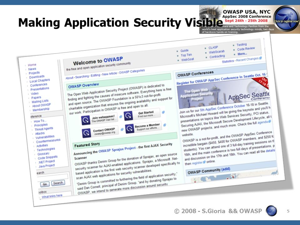 Making Application Security Visible