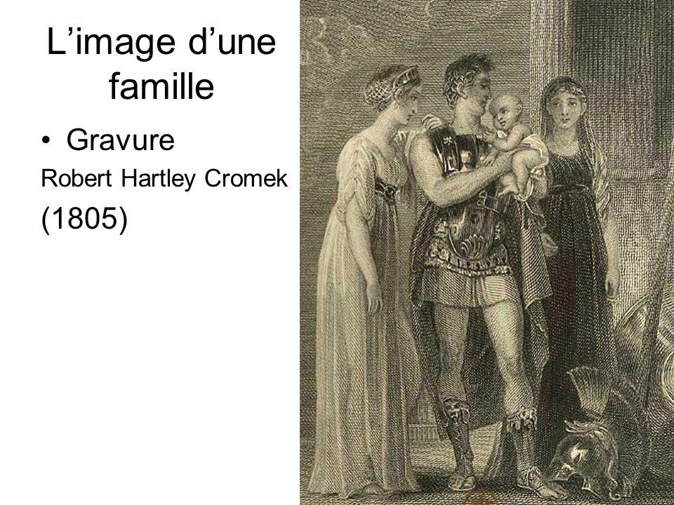 L'image d'une famille Gravure Robert Hartley Cromek (1805) D.Augé