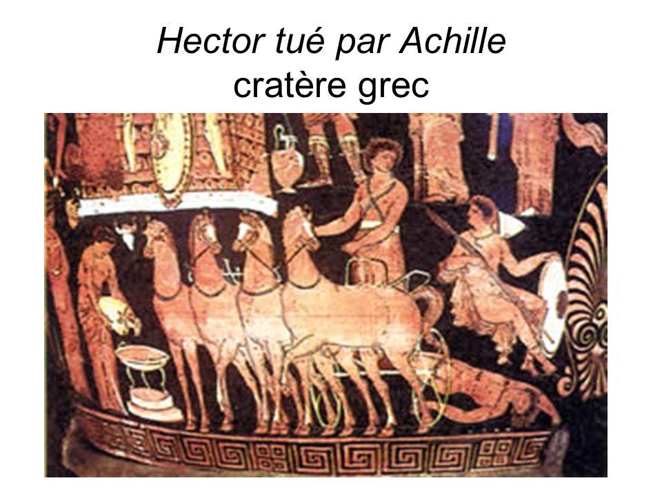 Hector tué par Achille cratère grec