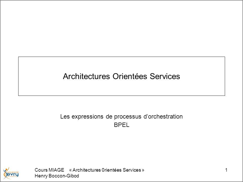 Architectures Orientées Services