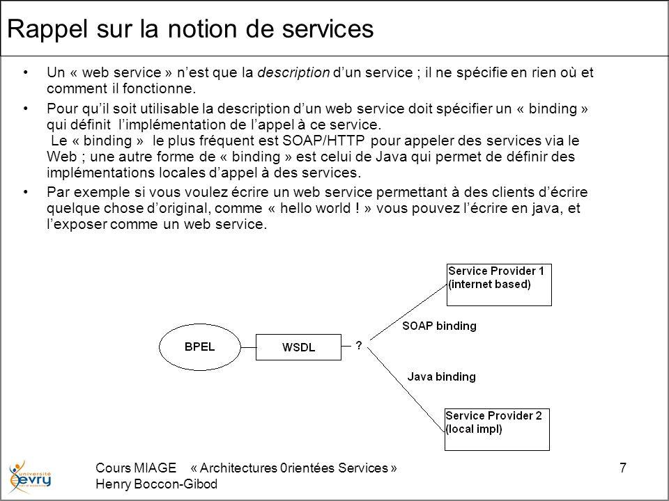 Rappel sur la notion de services