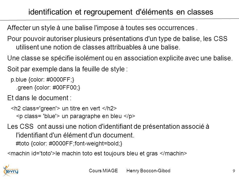 identification et regroupement d éléments en classes