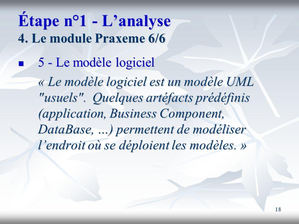 Étape n°1 - L'analyse 4. Le module Praxeme 6/6