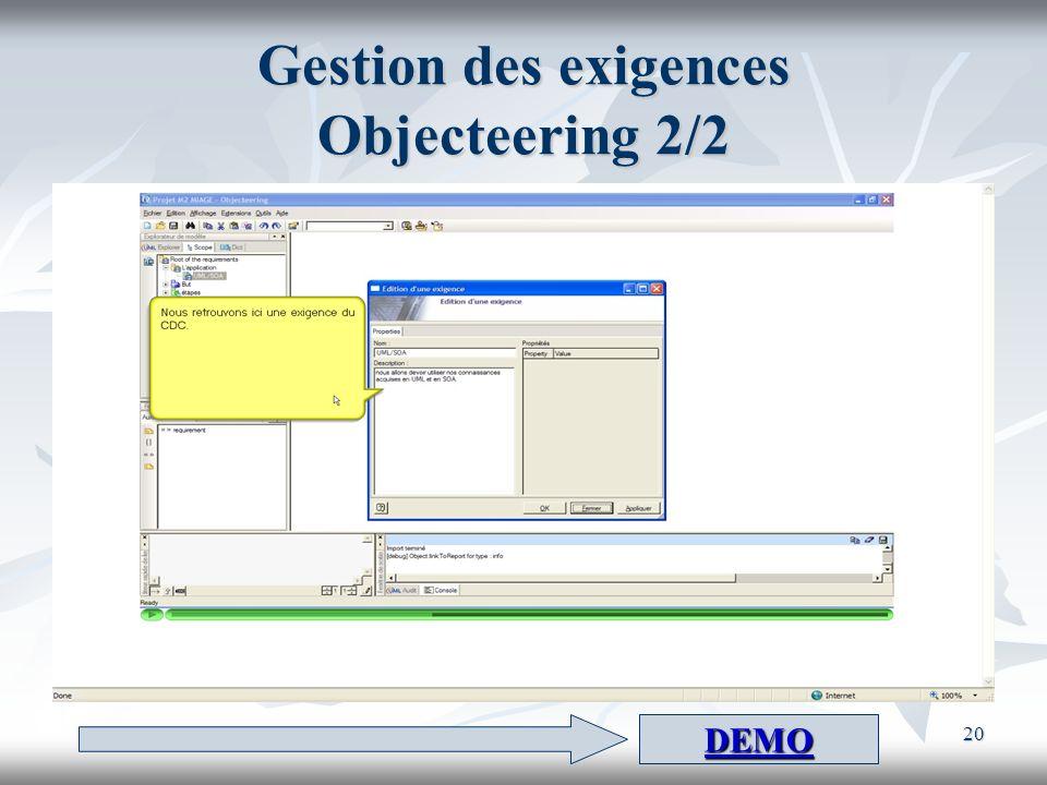 Gestion des exigences Objecteering 2/2