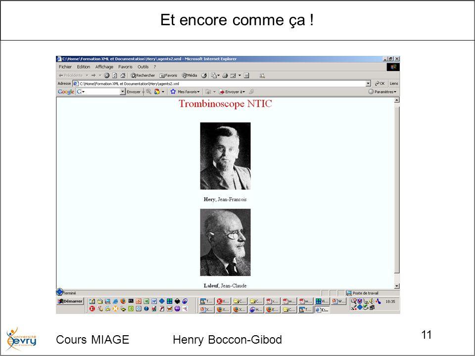 Et encore comme ça ! Cours MIAGE Henry Boccon-Gibod