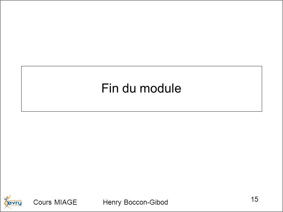 Fin du module Cours MIAGE Henry Boccon-Gibod