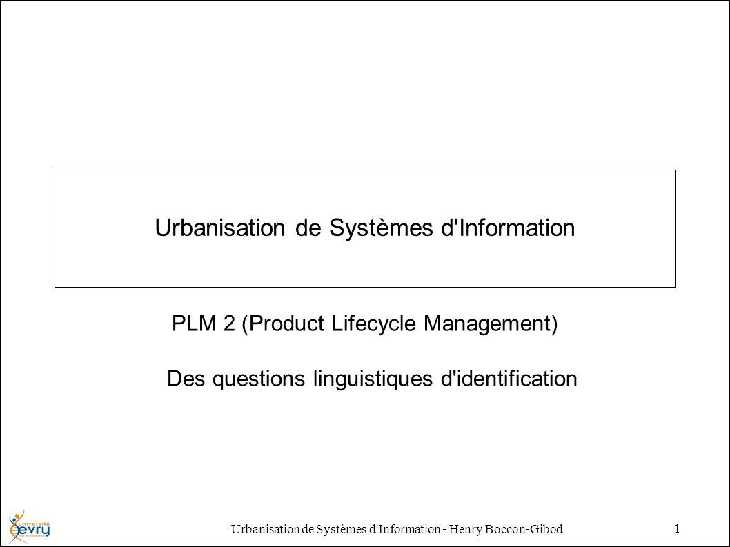 Urbanisation de Systèmes d Information