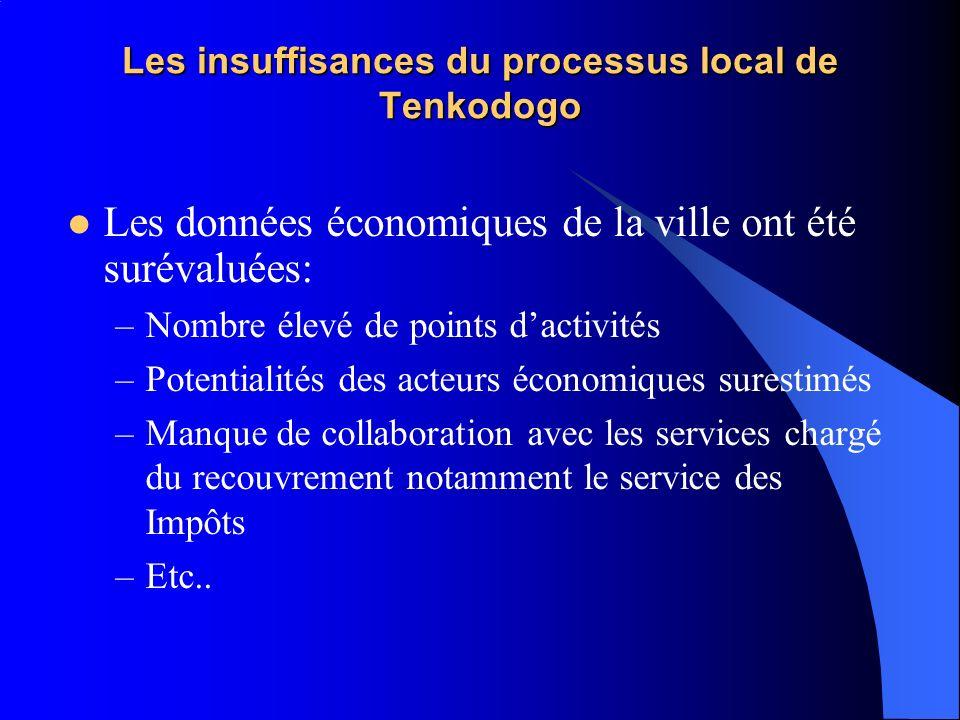 Les insuffisances du processus local de Tenkodogo