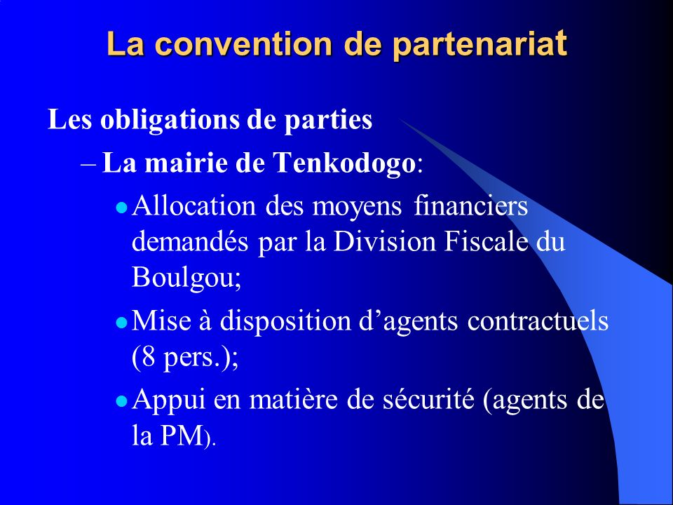 La convention de partenariat