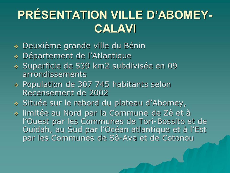 PRÉSENTATION VILLE D'ABOMEY-CALAVI