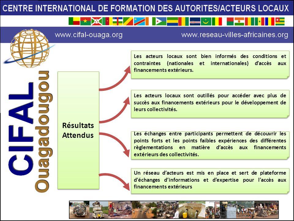 Les acteurs locaux sont bien informés des conditions et contraintes (nationales et internationales) d'accès aux financements extérieurs.