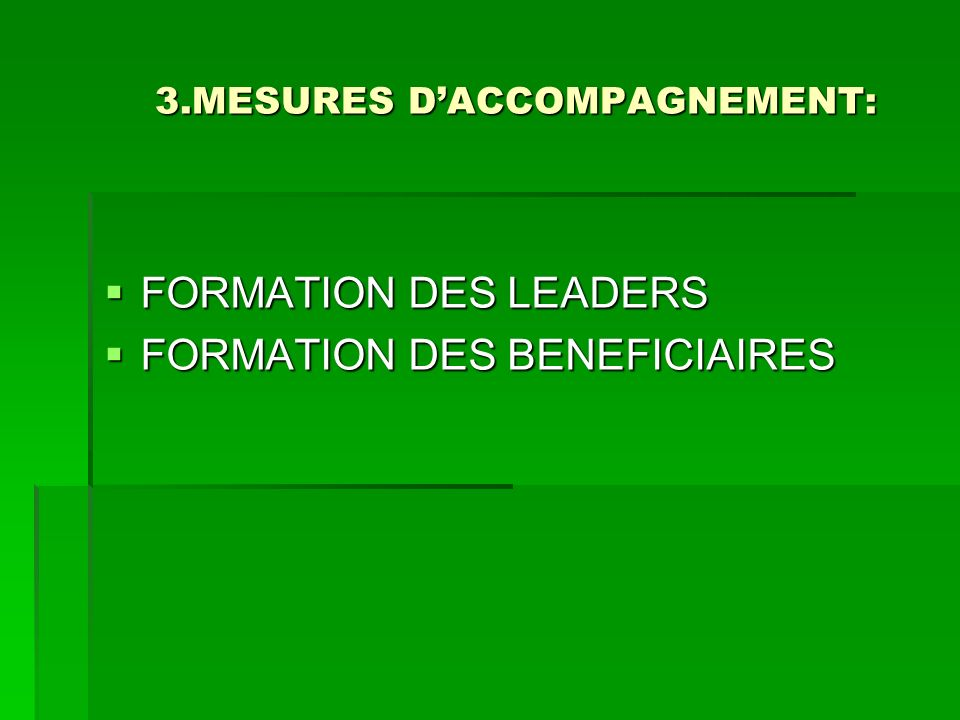 3.MESURES D'ACCOMPAGNEMENT: