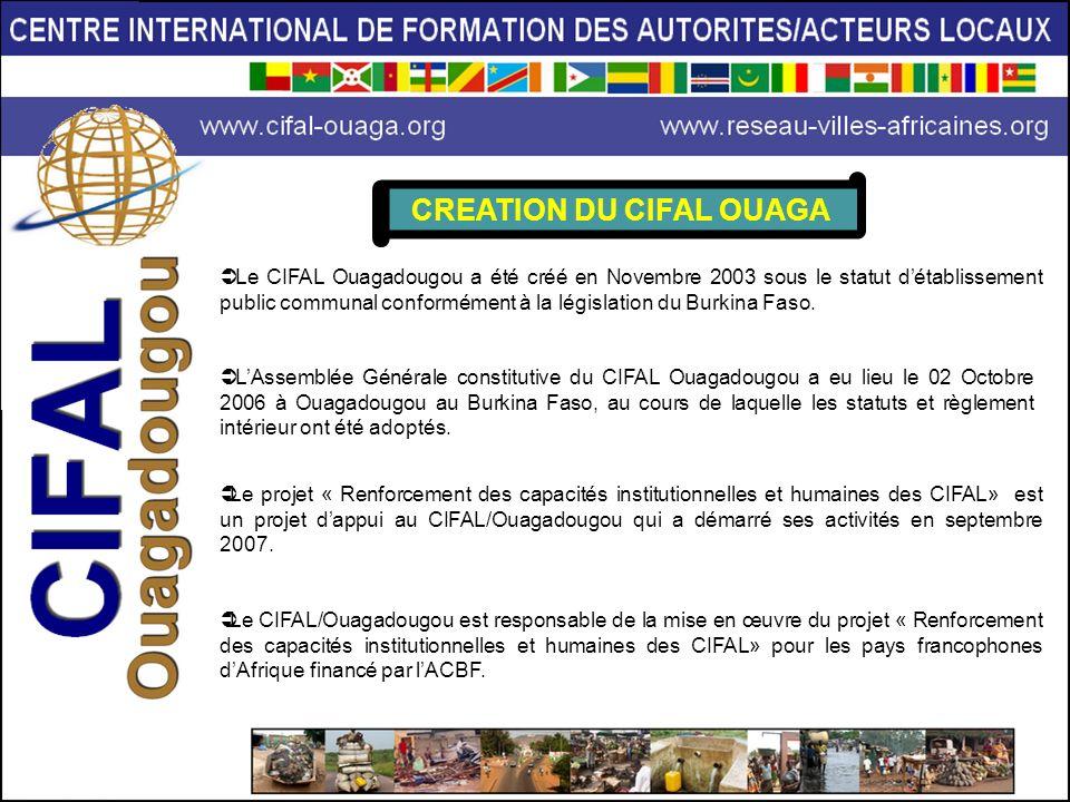 CREATION DU CIFAL OUAGA