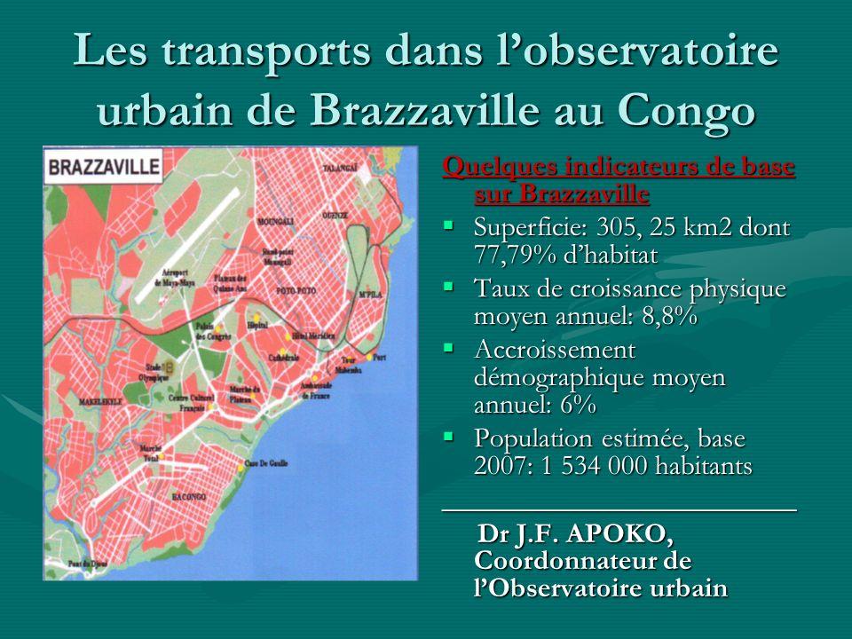 Les transports dans l'observatoire urbain de Brazzaville au Congo