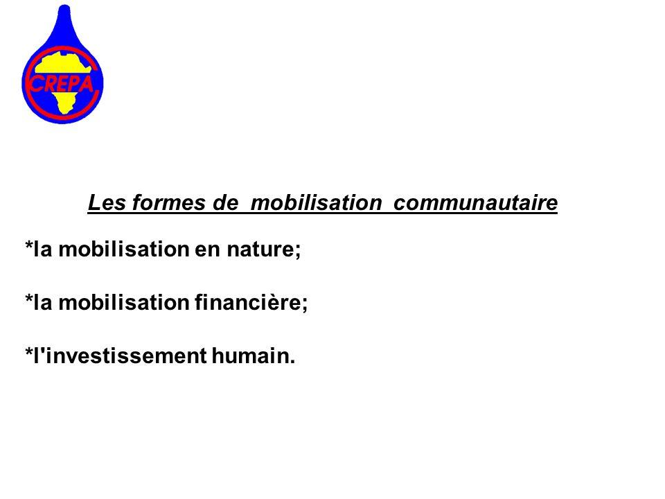 Les formes de mobilisation communautaire