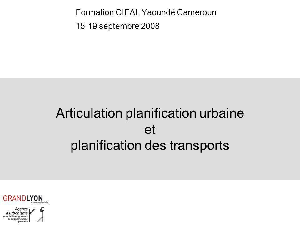 Articulation planification urbaine et planification des transports