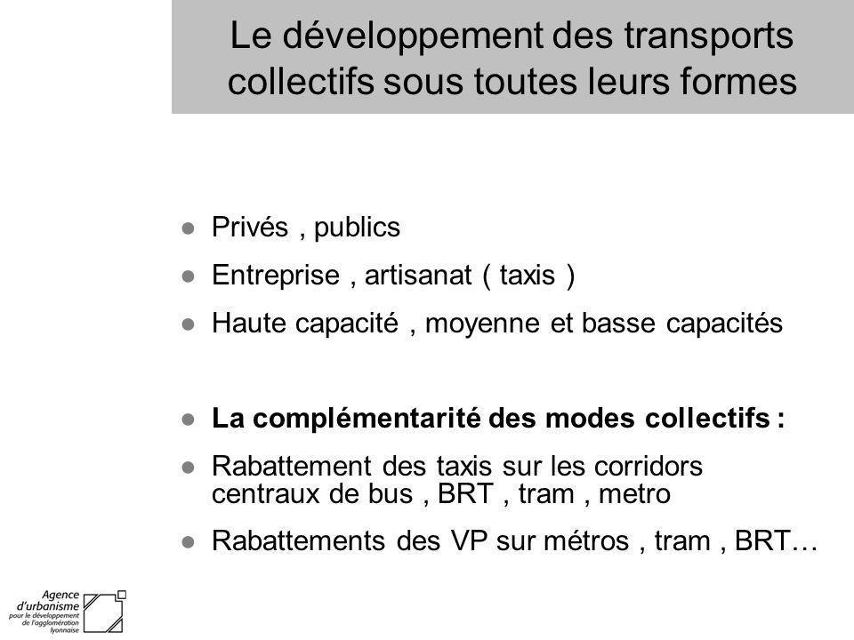 Le développement des transports collectifs sous toutes leurs formes
