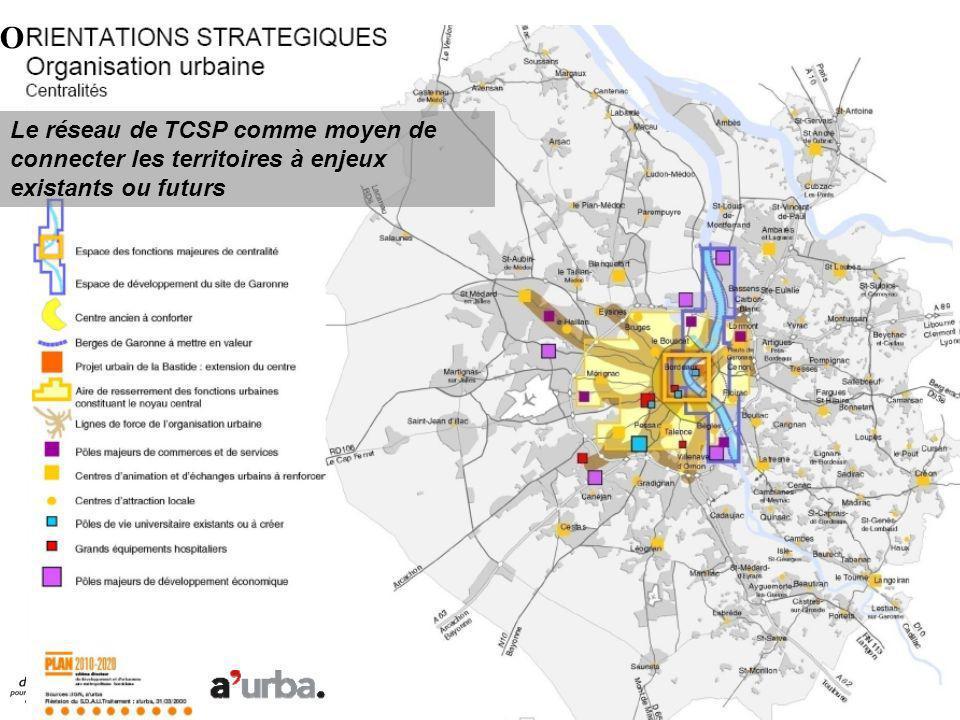 O Le réseau de TCSP comme moyen de connecter les territoires à enjeux existants ou futurs