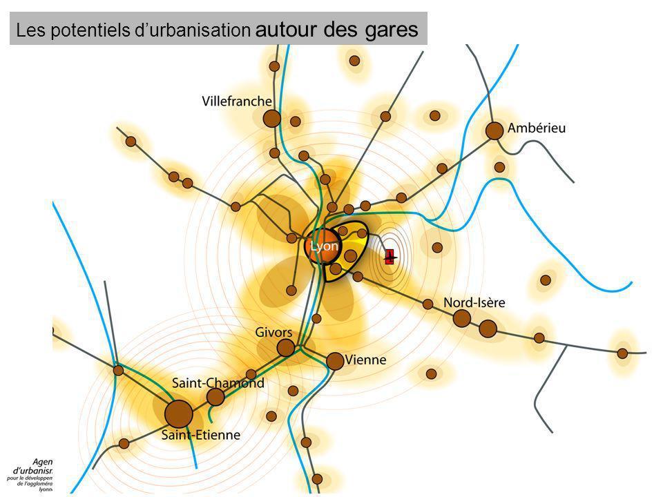Les potentiels d'urbanisation autour des gares