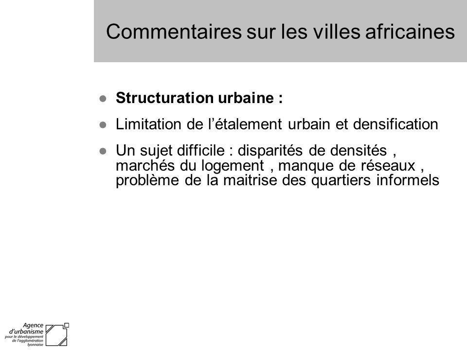Commentaires sur les villes africaines