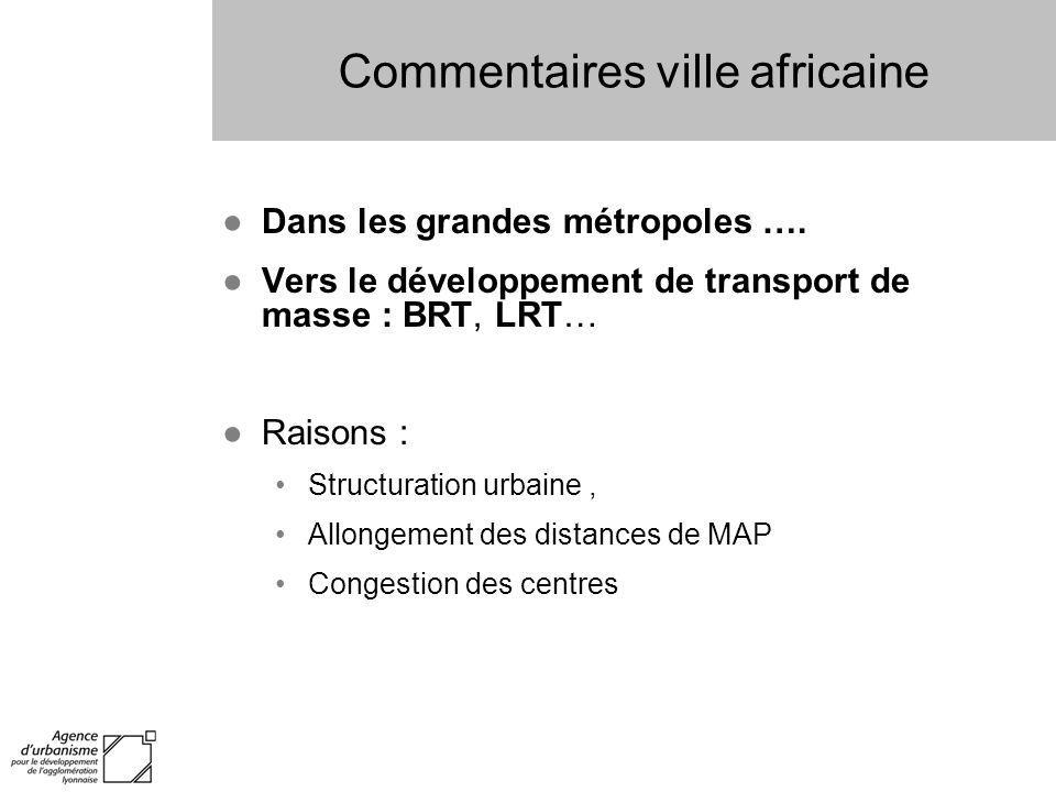 Commentaires ville africaine