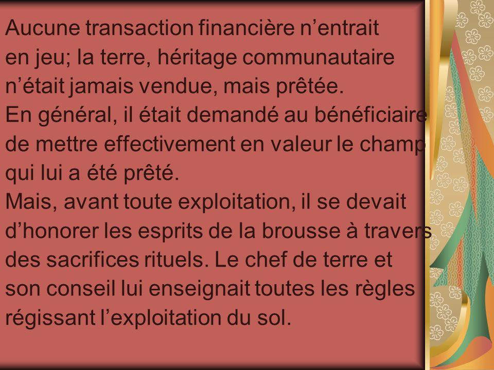 Aucune transaction financière n'entrait