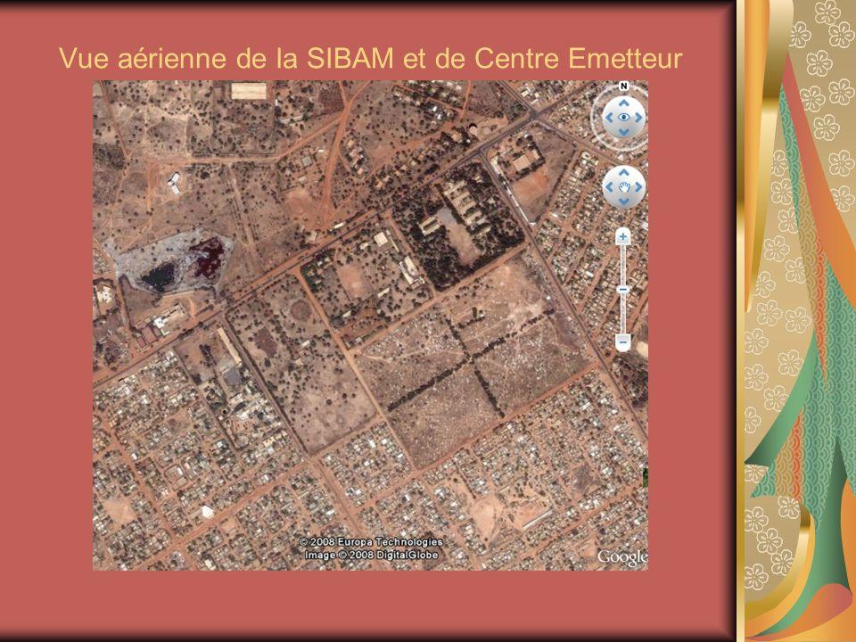 Vue aérienne de la SIBAM et de Centre Emetteur