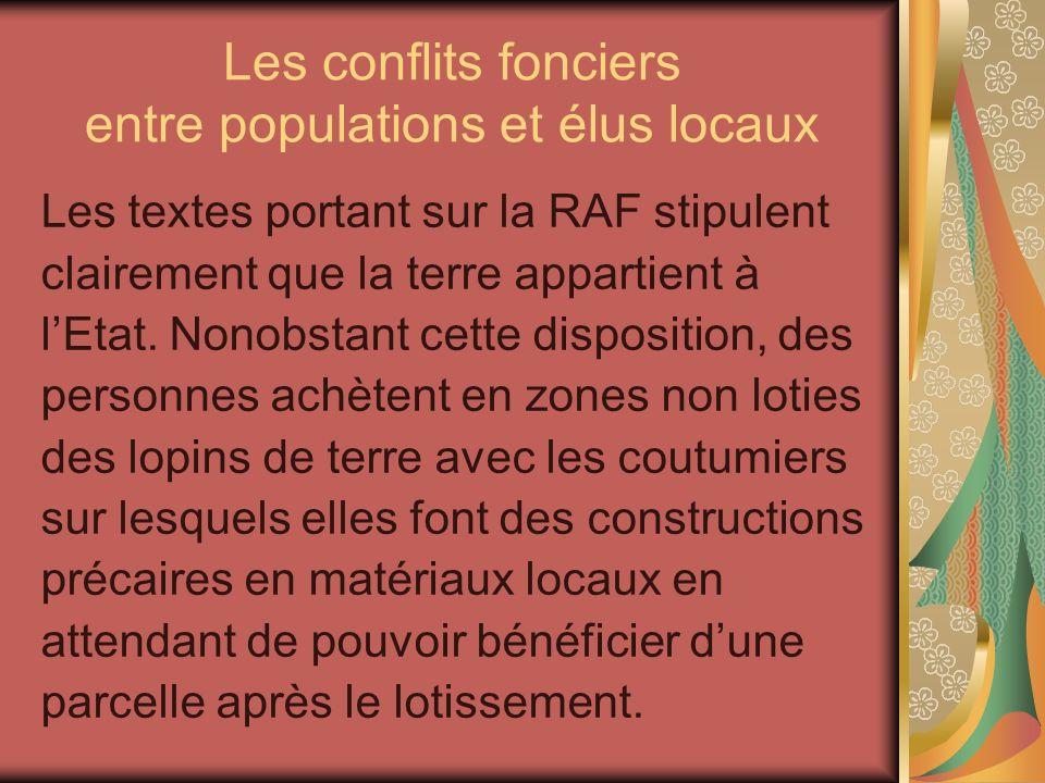 Les conflits fonciers entre populations et élus locaux