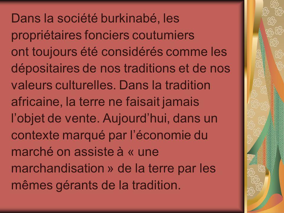 Dans la société burkinabé, les