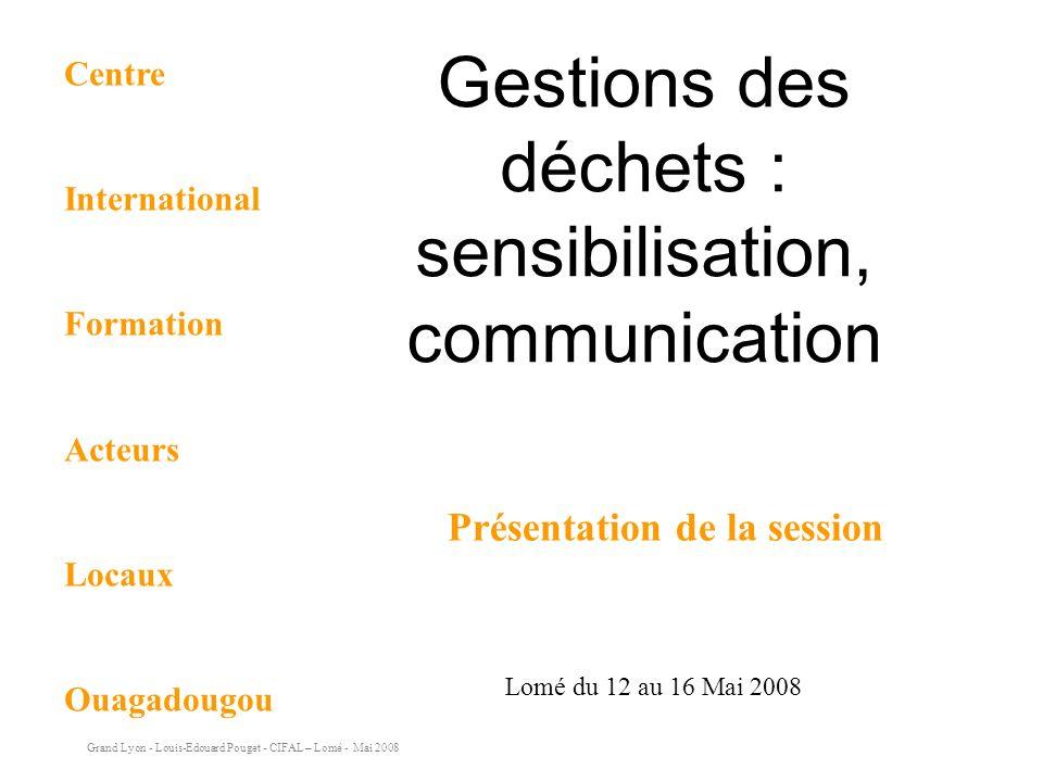 Gestions des déchets : sensibilisation, communication