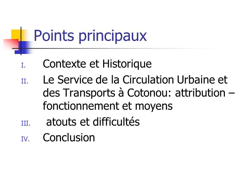 Points principaux Contexte et Historique
